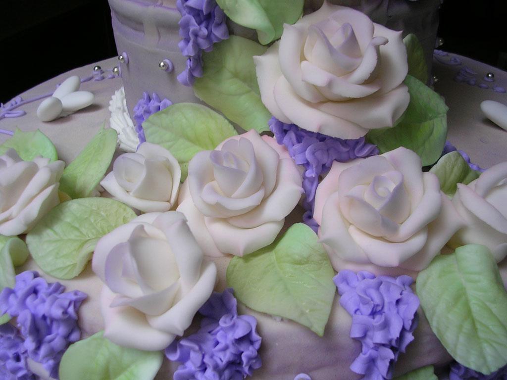 torta nuziale particolare fiori