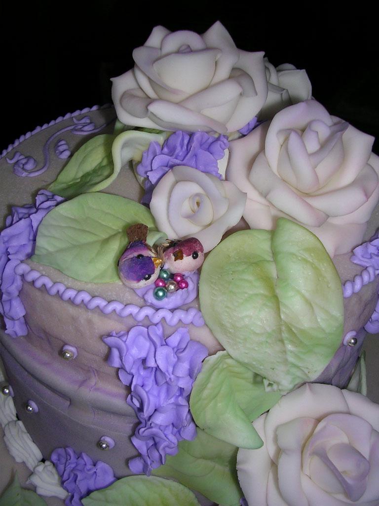 torta nuziale particolare uccelli